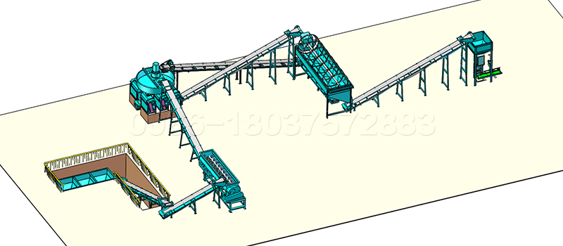 10 to15 ton NPK fertilizer production line